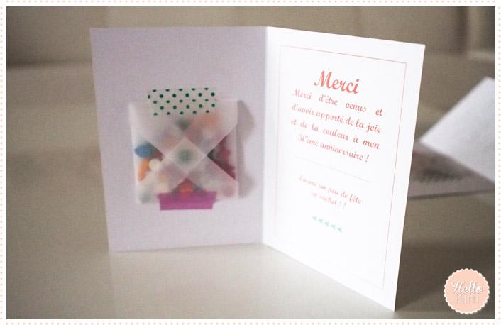 diy d anniversaire une petite carte de remerciement avec quelques confettis hello kim. Black Bedroom Furniture Sets. Home Design Ideas