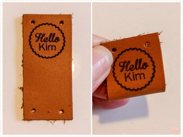 Étiquette en cuir personnalisée