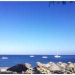 <span>Santorin</span> La plage de Kamari