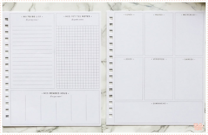 Templates Ma To do list, Mes petites notes, Mes rendez-vous et le semainier du kit Mon Bullet journal Mes Kits Make It de la Petite Épicerie