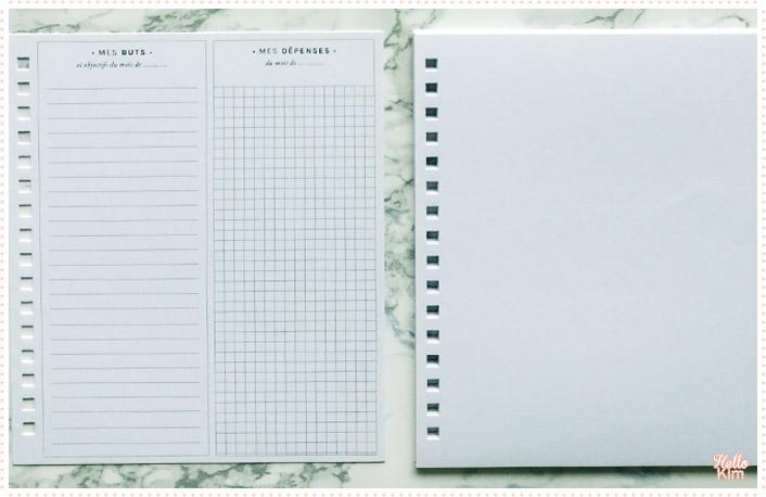 Templates Mes Buts et Mes dépenses du kit Mon Bullet journal Mes Kits Make It de la Petite Épicerie