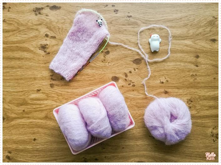 Manche en cours en Drops Brushed Alpaga silk (début)