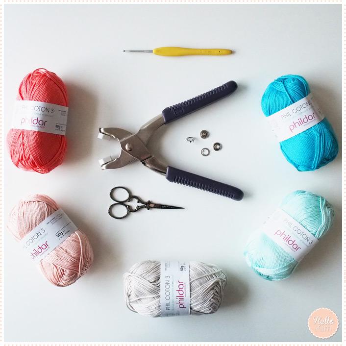 Pochette multicolore au crochet pour appareil photo - Matériel - HelloKim