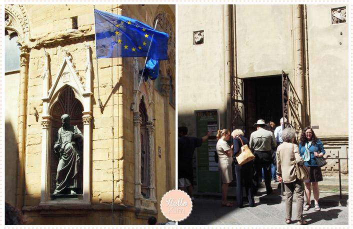 Florence 05.2014 - Kiosque via Calzaiuoli, Chiesa di Orsanmichele
