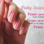 <span>Manicure</span> Pinky stripes #2