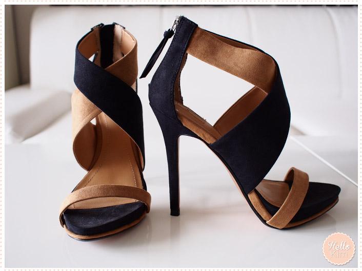 Chaussures stilettos ouvertes Zara - vue face et côté >> HelloKim