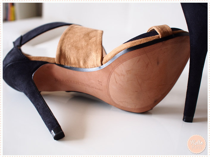 Chaussures stilettos ouvertes Zara - vue semelle >> HelloKim