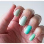<span>Nail art</span> Five shades of green