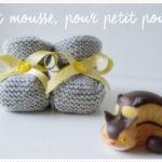 <span>Tricot layette</span> Petit mousse en chaussons